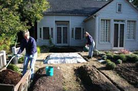 Mulching empty beds Carolyn Hollenbeck